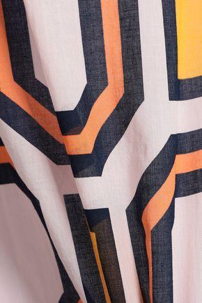TORY BURCH Embellished printed cotton-mousseline kaftan