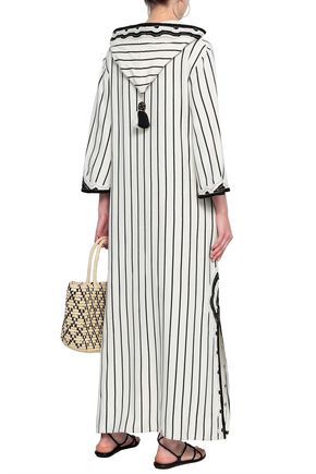 TORY BURCH Tasseled striped woven kaftan