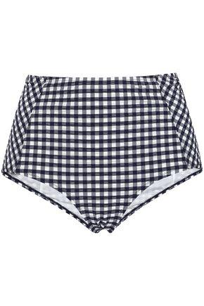 TORY BURCH Gingham seersucker bikini briefs