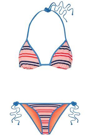 DIANE VON FURSTENBERG Reversible printed triangle bikini
