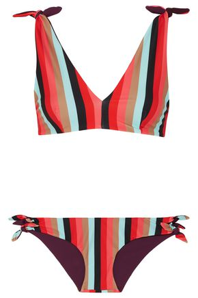 RYE Yeee reversible striped triangle bikini