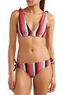 RYE Yeee reversible striped triangle bikini