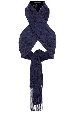 TABULA RASA | Tabula Rasa Sahara Silk And Cotton-Blend Macramé Halterneck Top | Goxip