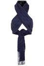 TABULA RASA Sahara silk and cotton-blend macramé halterneck top