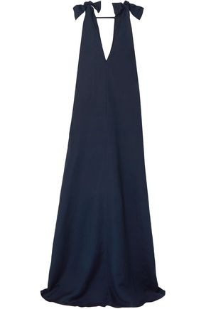 ADRIANA DEGREAS Cotton and linen-blend maxi dress