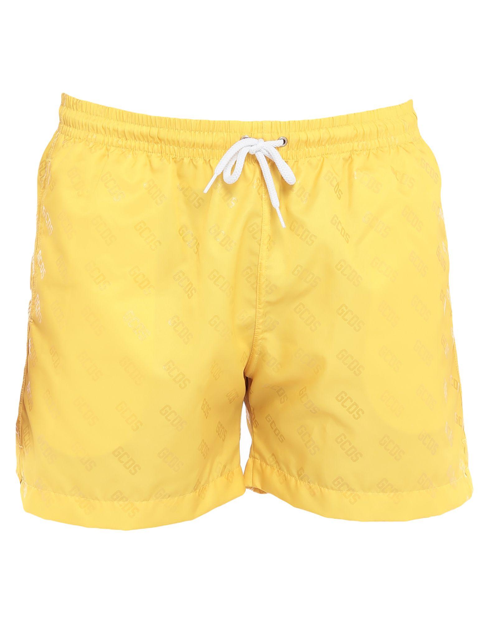 GCDS Swim trunks. techno fabric, logo, logo design, drawstring closure, front closure, multipockets, internal slip. 100% Polyester