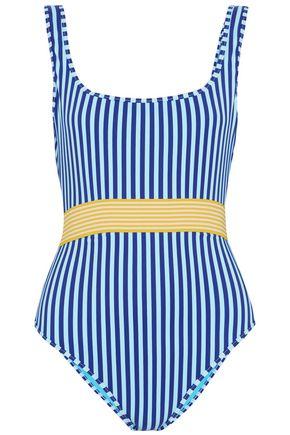 9e4a498ae4 DIANE VON FURSTENBERG Belted striped swimsuit