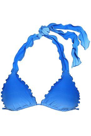 SEAFOLLY Ruffle-trimmed dégradé triangle bikini top