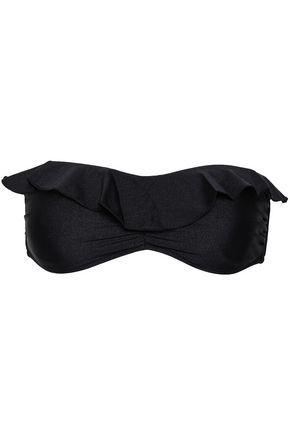 SEAFOLLY Ruffled bandeau bikini top