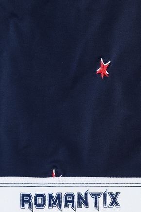 ZOE KARSSEN Embroidered printed bikini top