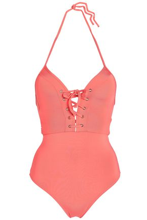 JETS AUSTRALIA by JESSIKA ALLEN Lace-up cutout triangle swimsuit
