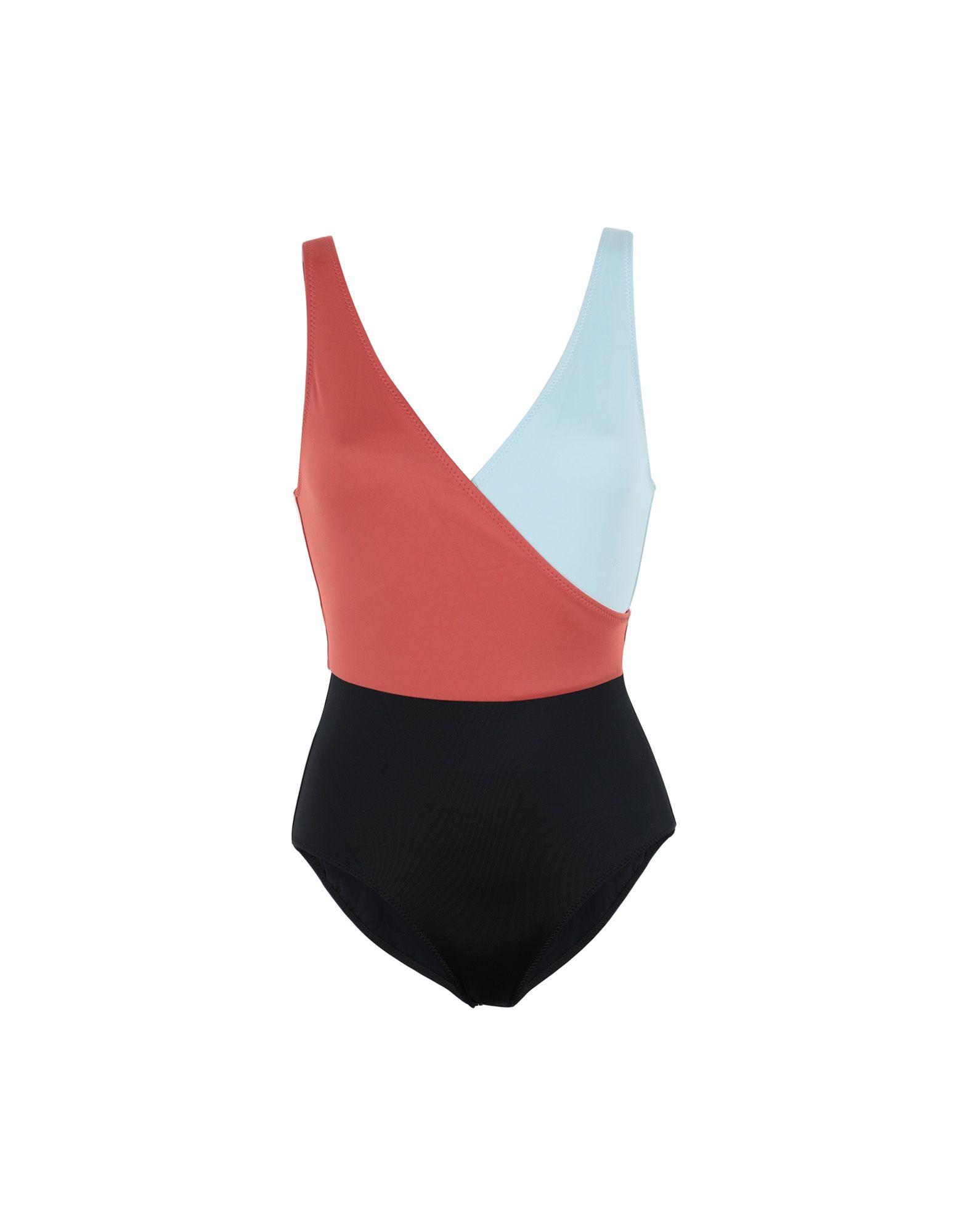 SOLID & STRIPED Слитный купальник striped tape side legging shorts