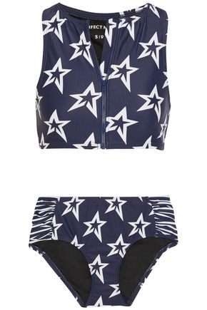 PERFECT MOMENT Ruched printed mid-rise bikini