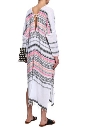 LEMLEM Printed cotton-blend gauze coverup