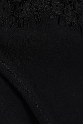 I.D. SARRIERI Lace-trimmed low-rise bikini briefs