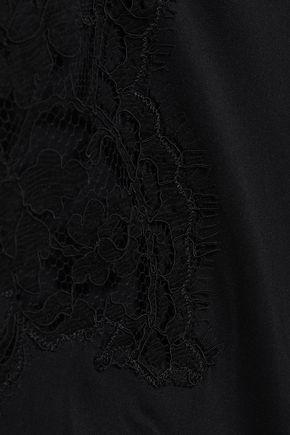 I.D. SARRIERI Lace-trimmed halterneck swimsuit