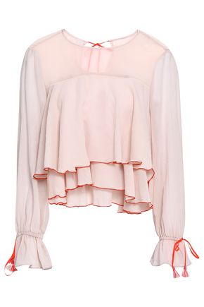 LEMLEM Tiered cotton-mousseline top