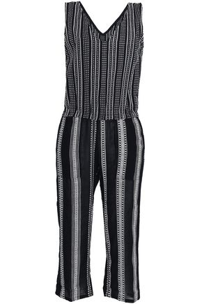 LEMLEM Cropped embroidered cotton jumpsuit