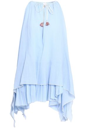LEMLEM Layered tassel-trimmed cotton top