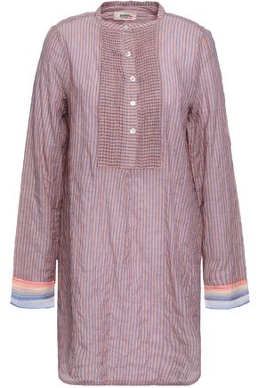 LEMLEM Striped cotton and ramie-blend tunic