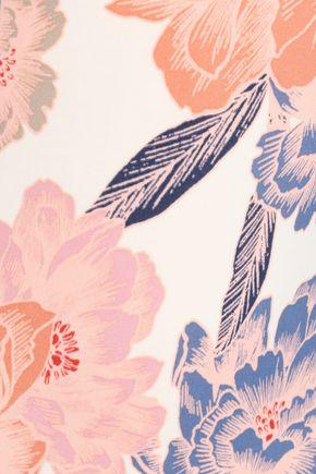 TORI PRAVER SWIMWEAR Lace-up floral-print halterneck swimsuit