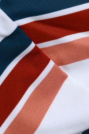 TORI PRAVER SWIMWEAR Lace-up striped bikini top