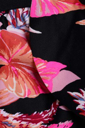 TORI PRAVER SWIMWEAR Ruffled printed bandeau bikini top