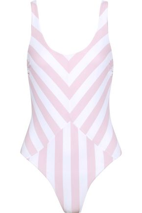 TORI PRAVER SWIMWEAR Genevie striped swimsuit