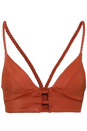TORI PRAVER SWIMWEAR Cutout braided bikini top