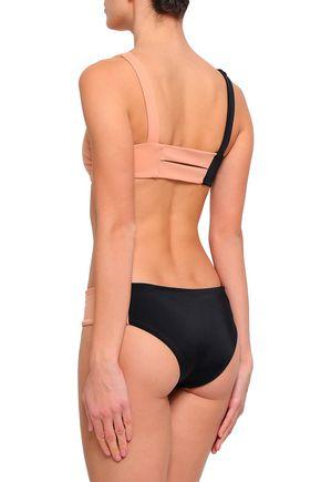 TORI PRAVER SWIMWEAR Two-tone bikini top