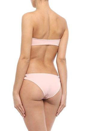 TORI PRAVER SWIMWEAR Shirred low-rise bikini briefs
