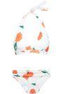 GANNI Floral-print mid-rise triangle bikini