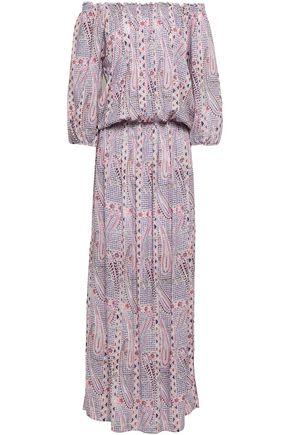 MELISSA ODABASH Faith off-the-shoulder printed woven maxi dress