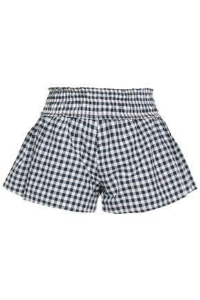 SUNDRESS Gingham woven shorts