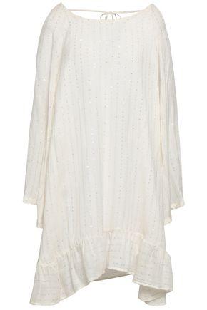 SUNDRESS Indiana embellished cotton-gauze coverup