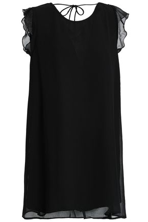 SUNDRESS Olympe ruffle-trimmed crepe mini dress