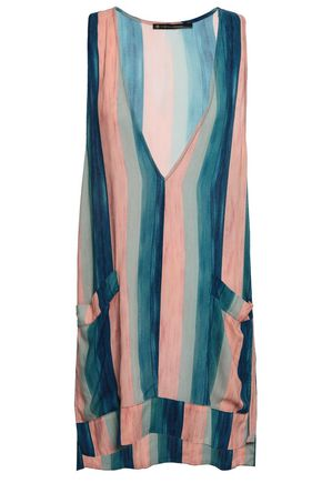 VIX PAULA HERMANNY Striped voile mini dress