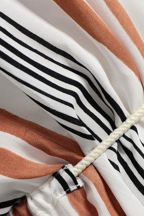 VIX PAULA HERMANNY Striped voile maxi dress