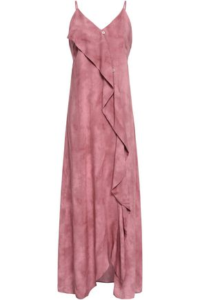 VIX PAULA HERMANNY Draped voile maxi dress