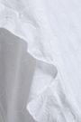 VIX PAULA HERMANNY Ruffled fil coupé cotton mini dress