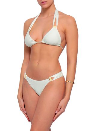 VIX PAULA HERMANNY Embellished cutout low-rise bikini briefs