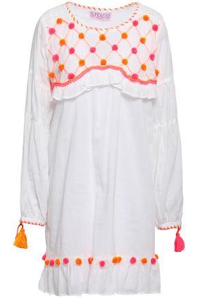 SUNDRESS Camille embellished cotton-gauze mini dress