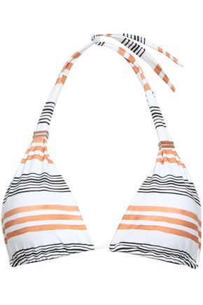 VIX PAULA HERMANNY Striped halterneck bikini top