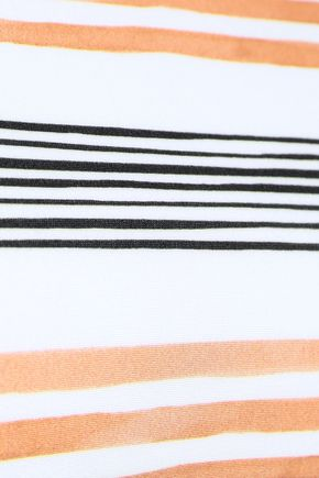 VIX PAULA HERMANNY Striped off-the-shoulder bikini top