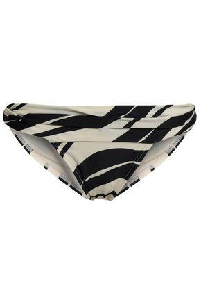 VIX PAULA HERMANNY Ruched two-tone mid-rise bikini briefs