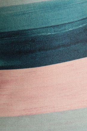 VIX PAULA HERMANNY Striped halterneck swimsuit
