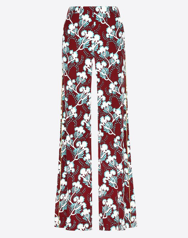 Graphic Elder Crepe de Chine Pajama Pants