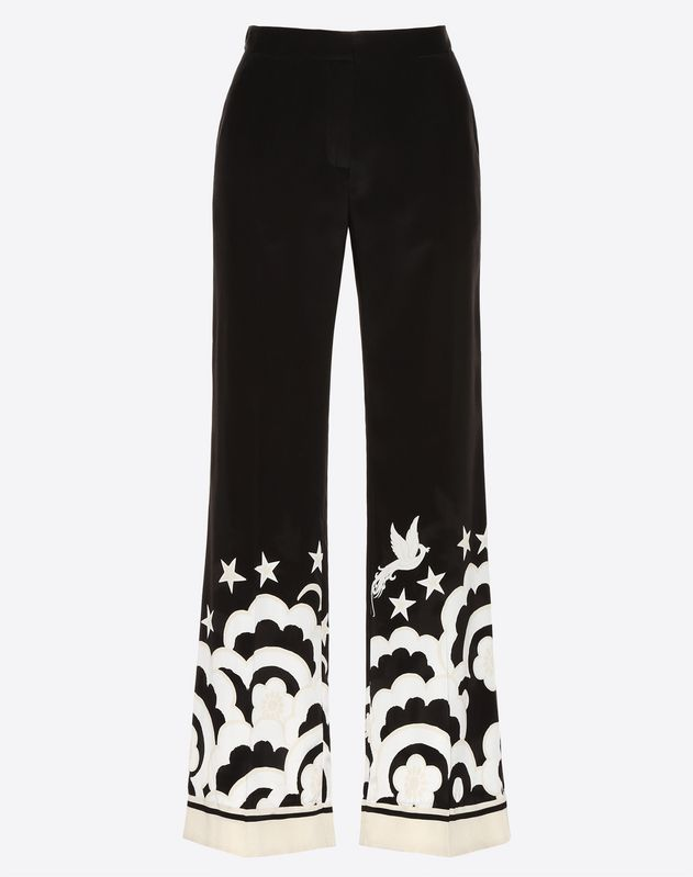 Phoenix Crepe de Chine Pajama Pants