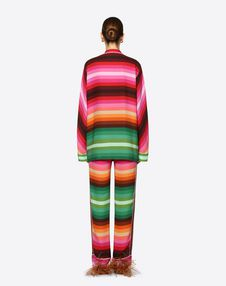 Bayadère Crepe De Chine Pyjama Trousers