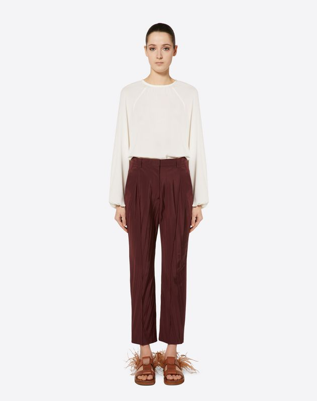"Micro Faille ""Pressed Pleat"" Trousers"